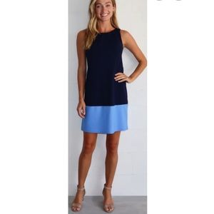 Jude Connally Pamela Dress in Navy/Periwinkle
